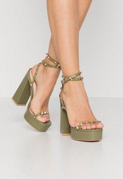 RAID - ODINAH - High heeled sandals - sage green