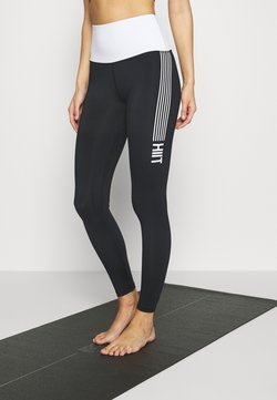 HIIT - CONTRAST LEGGING - Tights - black