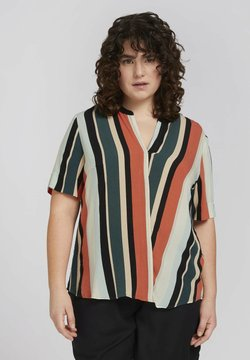 MY TRUE ME TOM TAILOR - BLOUSE WITH SLANTED PLACKET - T-Shirt print - multicolor sahara