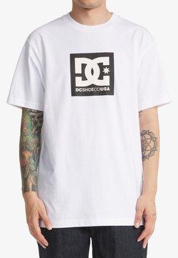 DC Shoes - SQUARE STAR  - T-shirt print - white