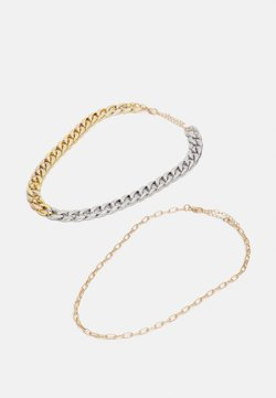 sweet deluxe - BEEKE 2 PACK - Necklace - gold-coloured/silver-coloured