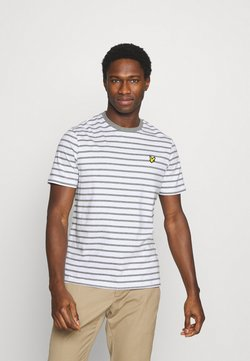 Lyle & Scott - BRETON STRIPE - T-Shirt print - mid grey marl/white