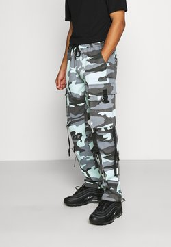 Sixth June - CAMO STRAP PANTS - Cargohose - blue
