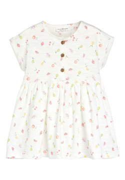 Next - ECRU FRUIT PRINT JERSEY DRESS (0MTHS-2YRS) - Jerseykleid - white