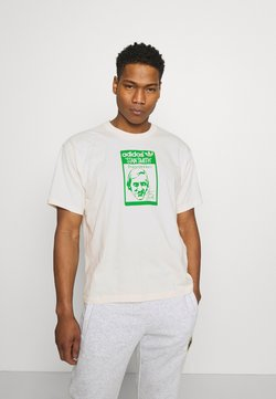 adidas Originals - TONGUE STAN TEE UNISEX - T-shirt print - white
