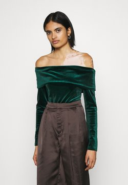 Nly by Nelly - FOLD OVER  - Langarmshirt - emerald