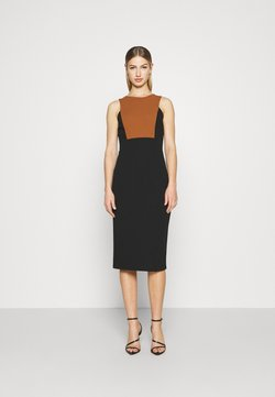 WAL G. - NOVA FRONT PANEL MIDI DRESS - Cocktail dress / Party dress - black/brown