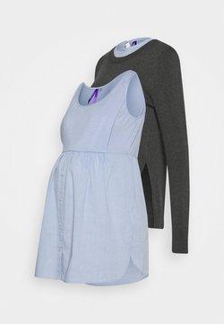 Seraphine - FELISA - Jersey de punto - grey/light-blue denim