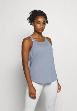 Nike Performance - YOGA STRAPPY TANK - Funktionsshirt - diffused blue/diffused blue