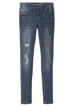TOM TAILOR - IM DESTROYED-LOOK - Straight leg jeans - blue denim