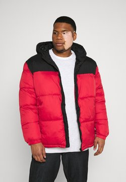 Jack & Jones - JJDREW PUFFER HOOD - Winterjacke - tango red