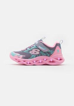 Skechers - TWISTY BRIGHTS - Sneaker low - gray/pink
