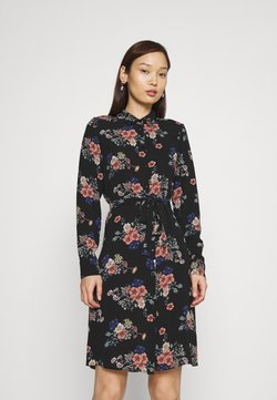 Vero Moda - VMSAGA COLLAR DRESS  - Paitamekko - black/demi