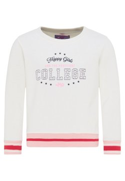 myMo KIDS - Sweater - wollweiss rosa