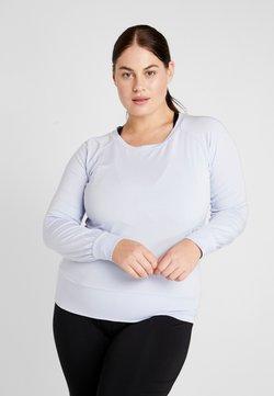 YOGA CURVES - BOAT NECK - Camiseta de manga larga - light blue