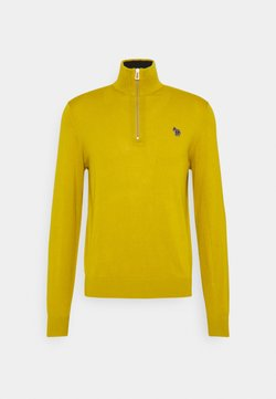 PS Paul Smith - MENS ZIP NECK ZEBRA - Strickpullover - yellow
