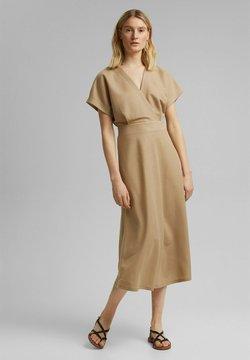 Esprit Collection - WRAP DRESS - Maxikleid - beige