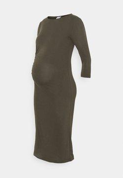MAMALICIOUS - MLARIELLA DRESS - Jersey dress - grape leaf