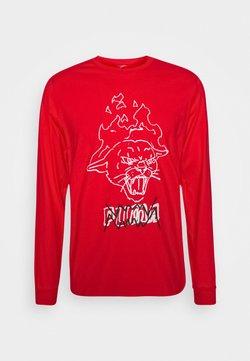 Puma - STREET TEE - T-shirt à manches longues - high risk red
