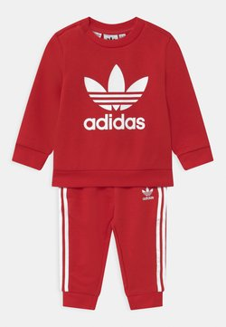 adidas Originals - CREW SET UNISEX - Survêtement - scarlet/white