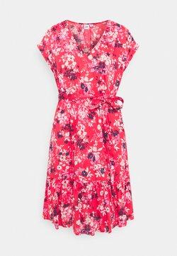 GAP - TIE WAIST DRESS - Freizeitkleid - red