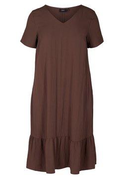 Zizzi - VMACY DRESS - Jerseykleid - mocca