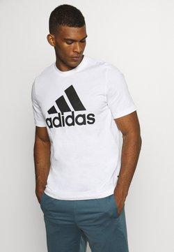 adidas Performance - ESSENTIALS SPORTS SHORT SLEEVE TEE - Printtipaita - white