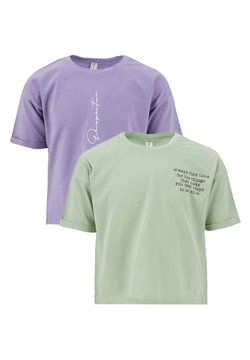 DeFacto - 2 PACK - T-shirt con stampa - turquoise