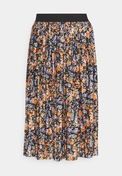 JDY - JDYBOA SKIRT - Falda acampanada - black/orange