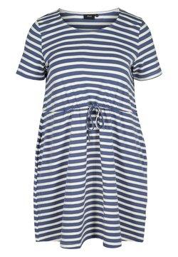 Zizzi - Jerseykleid - twilight blue/stripe