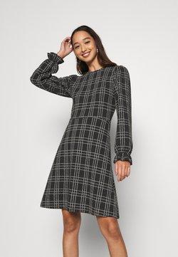 ONLY - ONLHOMIE SHORT DRESS - Jerseykleid - black/white