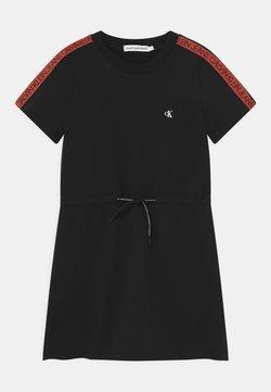 Calvin Klein Jeans - LOGO TAPE - Freizeitkleid - black
