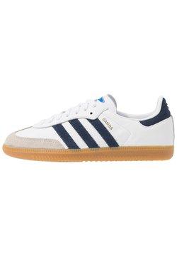 adidas Originals - SAMBA FOOTBALL - Sneaker low - footwear white/collegiate navy/blue