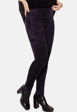LEATHER HYPE - CELYN - Pantalon en cuir - royal blue