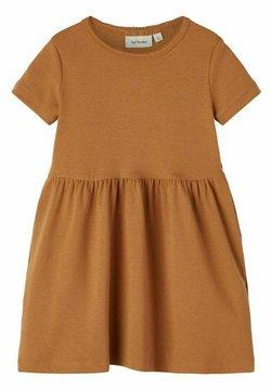 Name it - KURZE ÄRMEL - Jerseykleid - tobacco brown
