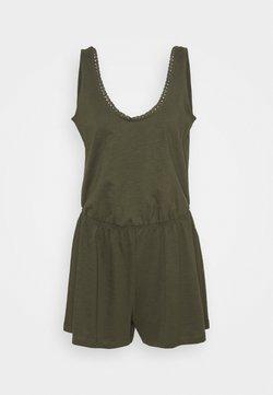 edc by Esprit - SLUB CROCHE - Jumpsuit - khaki green