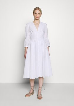 IVY & OAK - BROIDERY ANGLAISE DRESS - Vapaa-ajan mekko - bright white