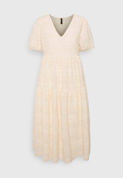 YAS Petite - YASEVA MIDI DRESS - Vestido informal - eggnog