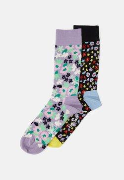 Happy Socks - FLOWER SOCK UNISEX 2 PACK  - Socken - multi