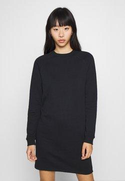 Even&Odd - BASIC - Sweat mini dress - Vardagsklänning - black