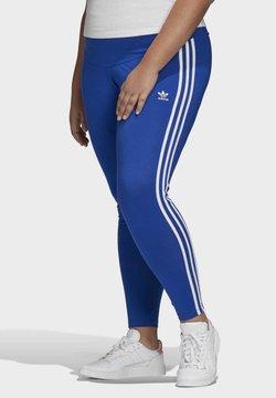 adidas Originals - 3-STRIPES LEGGINGS (PLUS SIZE) - Tights - blue
