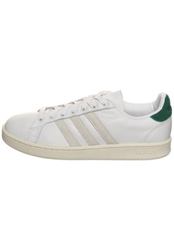 adidas Performance - GRAND COURT  - Sneaker low - footwear white/orbit grey/core green