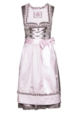 Marjo - NUMA - Dirndl - grau/rosa