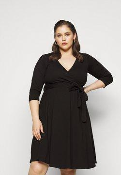 Dorothy Perkins Curve - WRAP DRESS - Freizeitkleid - black