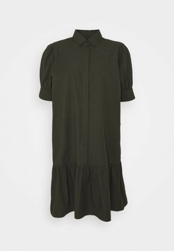 Bruuns Bazaar - FREYIE ALISE SHIRTDRESS - Vestido camisero - green night
