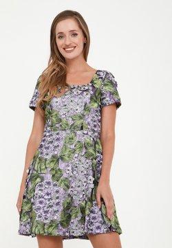 Madam-T - AGAVA - Cocktailkleid/festliches Kleid - lila, grün