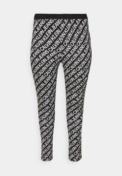 Calvin Klein Jeans Plus - MILANO - Leggings - Trousers - black