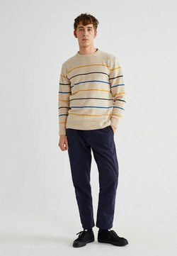 Thinking Mu - MIKI - Strickpullover - shell striped