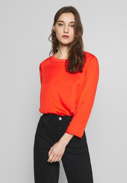 Marc O'Polo - BLOUSE CREW COLLAR SPECIAL DETAIL SEAM - Bluse - sunset orange