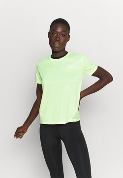 Nike Performance - MILER - Camiseta estampada - barely volt/reflective silve